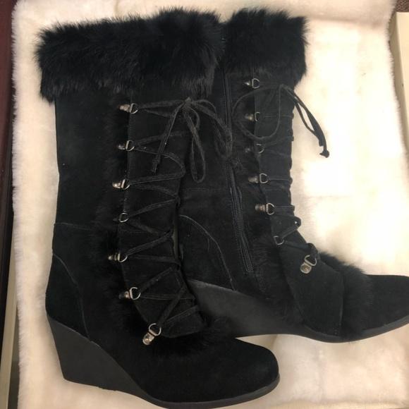 92138de6e5c BearPaw Shoes - Bearpaw Britney Knee-High Wedge Boot Women s 8
